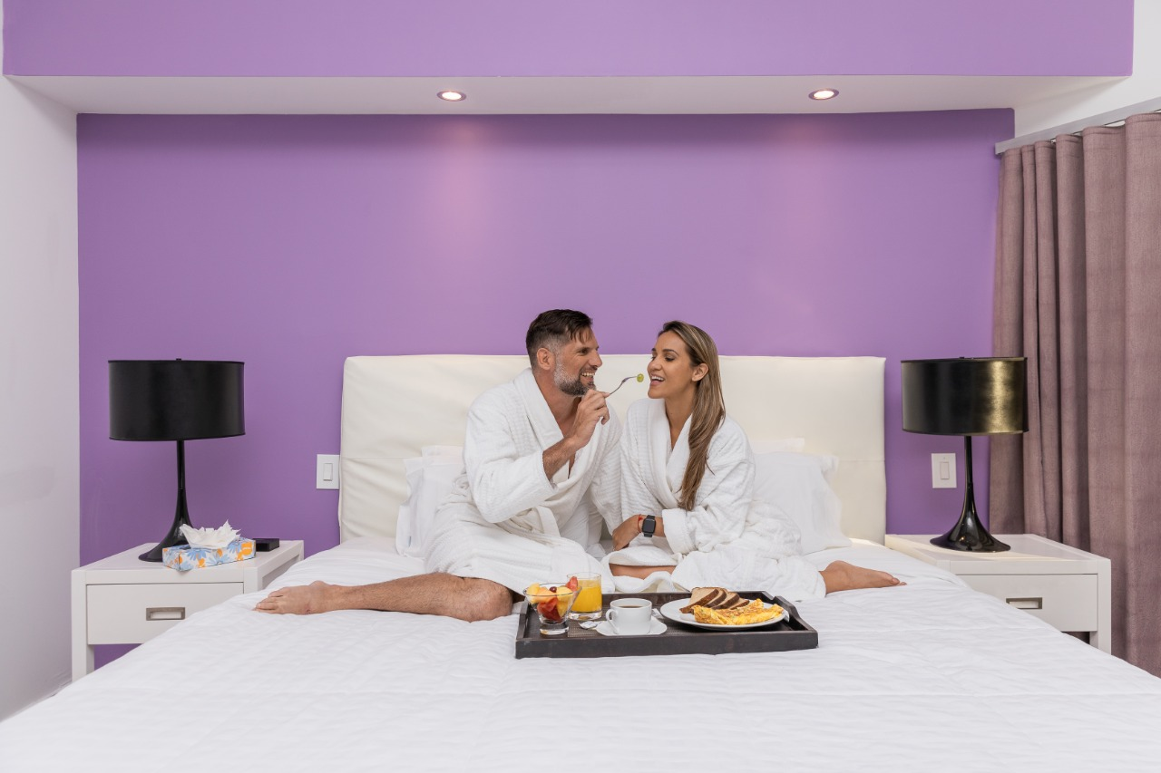 Helthy Breakfast in Bed - Love, Romantic Couple Stay, Vacation, Simpson Bay - Luxury