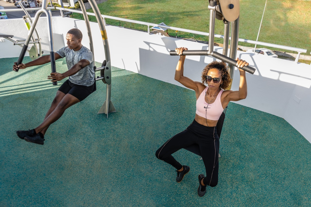 Rooftop Gym - Health, Sports, Exercise, Outdoor, Healthy Vacation - Wellness Retreat